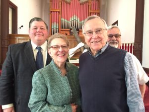 Pastor Linda, the Rev. Dr. Don Shuler, Rev. Jerrod Hugenot and Keith Griffin